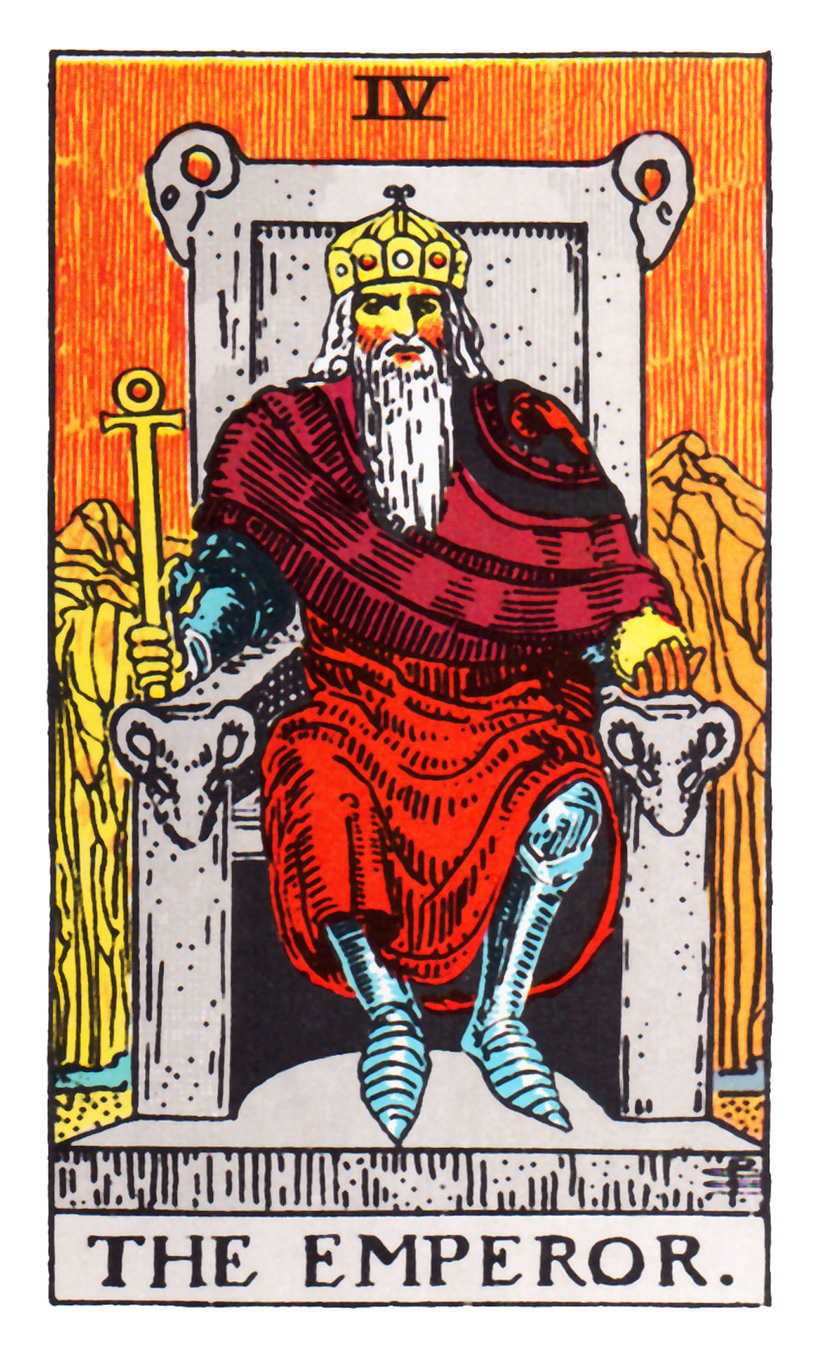 The Emperor Seven Tarot Cards From Different Packs Other